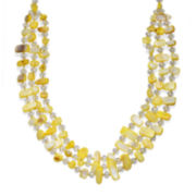 Mixit™ Yellow Shell Triple-Row Necklace