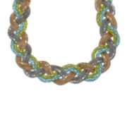 Mixit™ Blue and Green Two-Tone Metal Braid Necklace