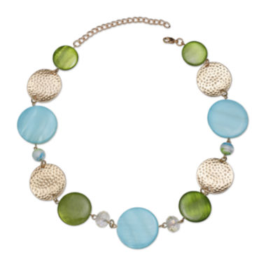 jcpenney.com | Mixit™ Blue and Green Shell Circle Necklace