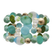Mixit™ Blue and Green Shell 3-pc. Stretch Bracelets