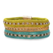 Mixit™ Rhinestone-Encrusted Blue and Green Metal Bracelet