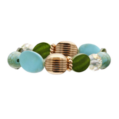 jcpenney.com | Mixit™ Blue and Green Shell Stretch Bracelet