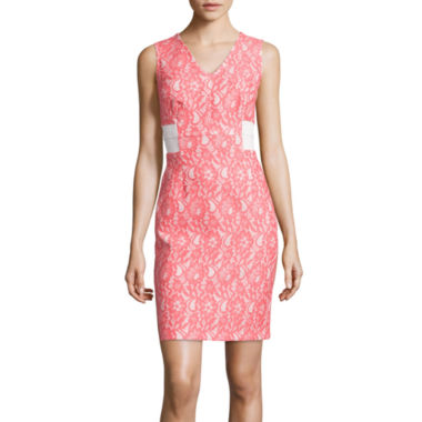 jcpenney.com | Worthington® Sleeveless Lace Sheath Dress