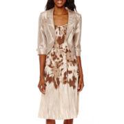 Maya Brooke Floral Print Jacket Dress