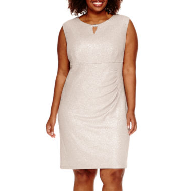 jcpenney.com | Scarlett Sleeveless Side-Ruched Metallic Dress - Plus