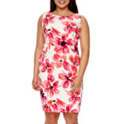Alyx® Sleeveless Floral Print Sheath Dress - Plus