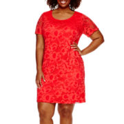 RN studio by Ronni Nicole® Short-Sleeve Lace T-Shirt Dress - Plus