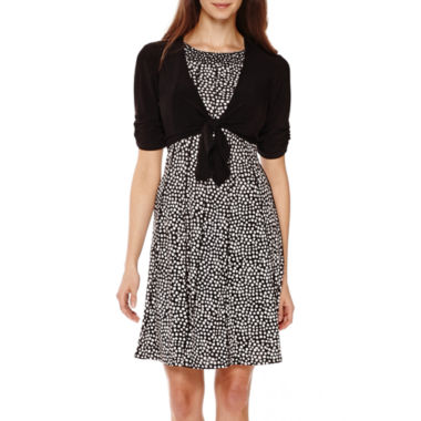 jcpenney.com | Perceptions Short-Sleeve Tie-Front Jacket Dress - Petite