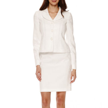 jcpenney.com | Isabella Long-Sleeve Jacquard Jacket and Skirt Suit - Petite