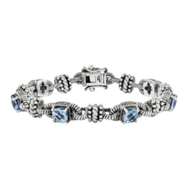 jcpenney.com | Shey Couture Swiss Blue Topaz Sterling Silver and 14K Gold Accent Bracelet