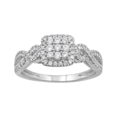 jcpenney.com | 1/2 CT. T. W. Diamond 14K White Gold Ring