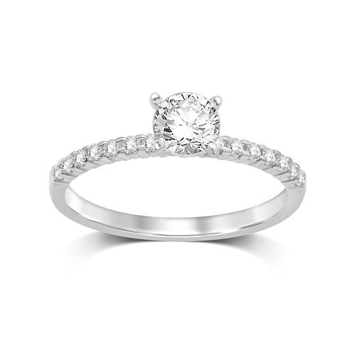 1/2 CT. T.W. Diamond 10K White Gold Solitaire Ring