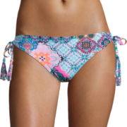 Arizona Paisley Keyhole Hipster Swim Bottom - Juniors