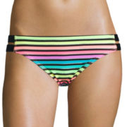 Arizona Foil Striped Hipster Swim Bottoms - Juniors
