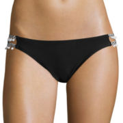 Arizona Right Stuff Pom-Pom-String Hipster Swim Bottoms - Juniors