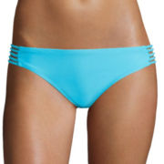 Arizona Watch Me Multi-Strap Hipster Swim Bottoms - Juniors