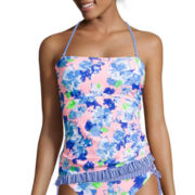 Arizona Full Bloom Floral Bandeaukini Swim Top - Juniors