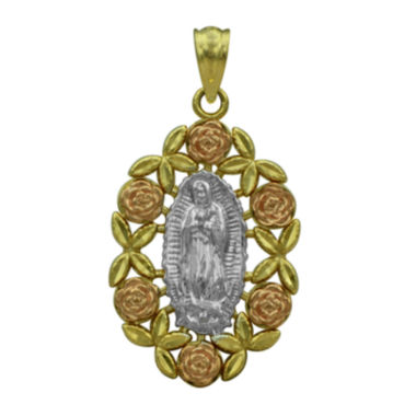 jcpenney.com | 10K Tri-Color Gold Our Lady of Guadalupe Charm Pendant