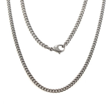"jcpenney.com | Mens Stainless Steel 24"" Chain Necklace"