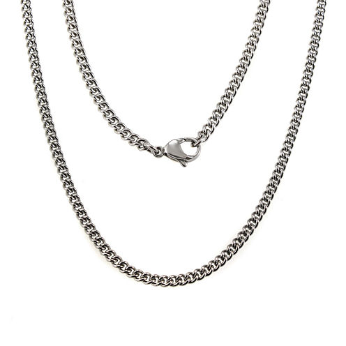 "Mens Stainless Steel 24"" Chain Necklace"