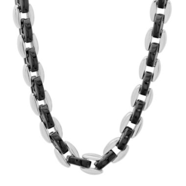 "jcpenney.com | Mens Two-Tone Stainless Steel 24"" Chain Necklace"