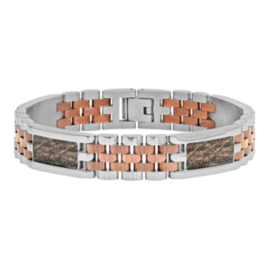 jcpenney.com | Mens Two-Tone Stainless Steel and Brown IP Bracelet