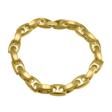 jcpenney.com | Mens Yellow IP Stainless Steel Mariner Bracelet