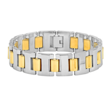 jcpenney.com | Mens Two-Tone Tungsten Carbide Bracelet