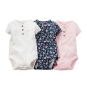 Carter's® 3-pk. Short-Sleeve Bodysuits - Baby Girls newborn-24m