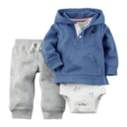 Carter's® Hoodie, Bodysuit and Pants Set  - Baby Boys newborn-24m
