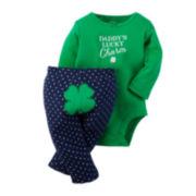Carter's® St. Patrick's Day 2-pc. Leggings Set - Baby Girls newborn-24m