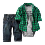 Carter's® St. Patrick's Day 3-pc. Bodysuit and Jeans Set - Baby Boys newborn-24m
