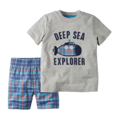 jcpenney.com | Carter's® Tee and Shorts Set - newborn-24m