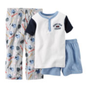 Carter's® 3-pc. Baseball Pajama Set - Preschool Boys 4-7