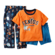 Carter's® 3-pc. Genius Pajama Set - Preschool Boys 4-7