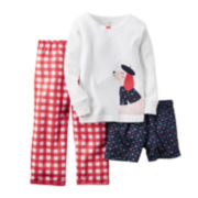 Carter's® 3-pc. Dog Pajama Set - Preschool Girls 4-7