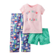 Carter's® 3-pc Pajama Set - Preschool Girls 4-7