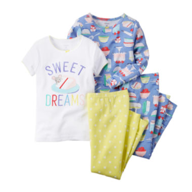 jcpenney.com | Carter's® 4-pc. Sweet Dreams Pajama Set – Preschool Girls 4-7