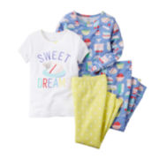 Carter's® 4-pc. Sweet Dreams Pajama Set – Preschool Girls 4-7