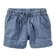 Carter's® Chambray Shorts - Toddler Girls 2t-5t