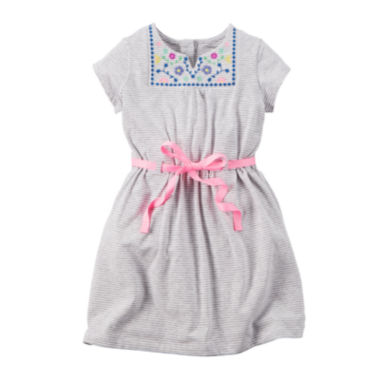 jcpenney.com | Carter's® Embroidered Knit Dress - Toddler Girls 2t-5t