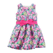 Carter's® Sleeveless Floral Crepe Dress - Toddler Girls 2t-5t