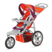 Schwinn® Flight Swivel Single Jogging Stroller - Poppy Red and Maroon