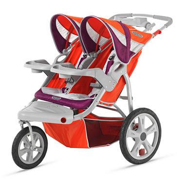 InStep Flight Swivel Wheel Double Jogging Stroller - Poppy Red and ...