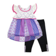 Nanette Crochet Top and Leggings Set - Preschool Girls 4-6x