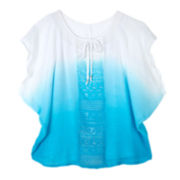 by&by Girl Dolman Gauze Top - Girls 7-16