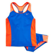 Nike® 2-pc. Colorblock Tankini Swimsuit - Girls 7-16