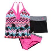 ZeroXposur® 3-pc. Swimsuit and Shorts Set - Girls 7-16
