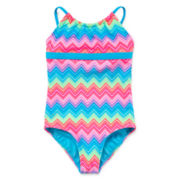 Angel Beach Zigzag Swimsuit - Girls Plus