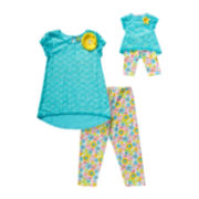 Dollie & Me Top and Capri Leggings Set - Girls 7-14